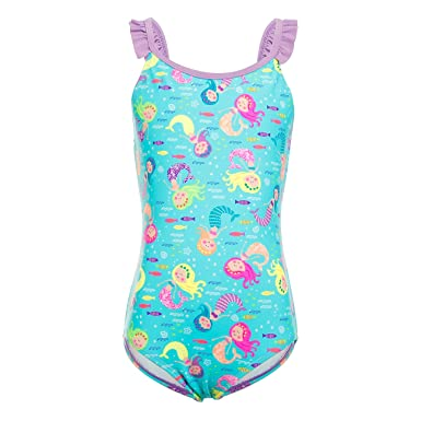 a9f27c8f0271 DAYU Girls Swimsuit One Piece Sunshine Beach Sweet Print Swimsuit Kids Beachwear  Swimwear -6-14  Amazon.co.uk  Clothing