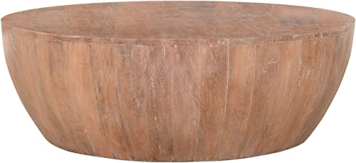 The Urban Port Drum Shape Wooden Coffee Table - a good cheap living room table