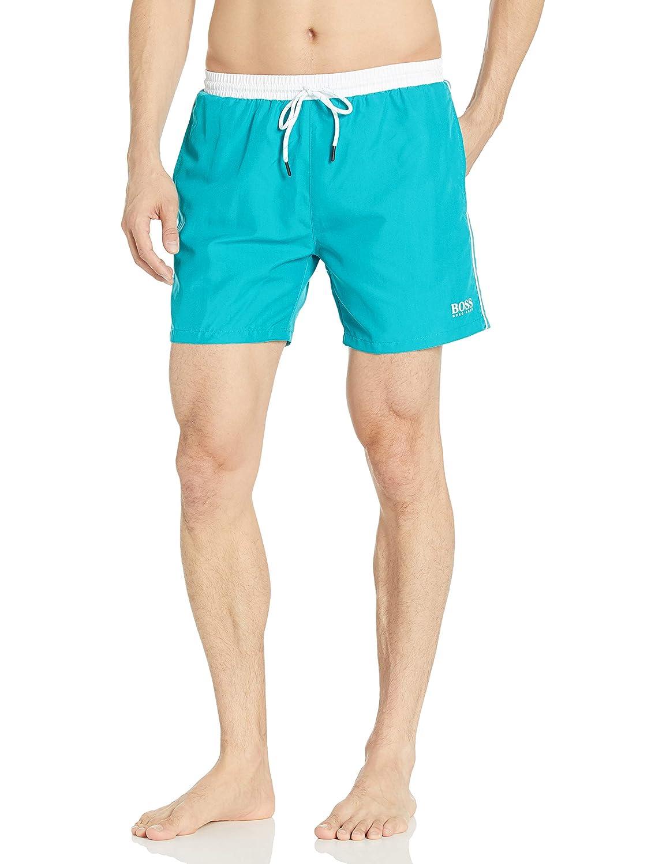 Turquoise Hugo Boss BOSS Mens Starfish Swim Trunk l