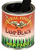 General Finishes QLB Water Based Milk Paint, 1 Quart, Lamp Black