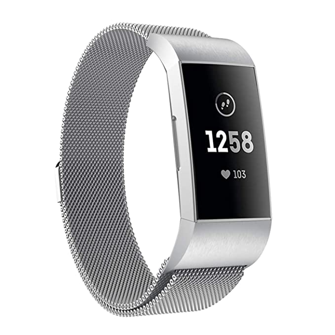Fitbit Charge 3 Milanese Bandas Reakle Acero Inoxidable ...