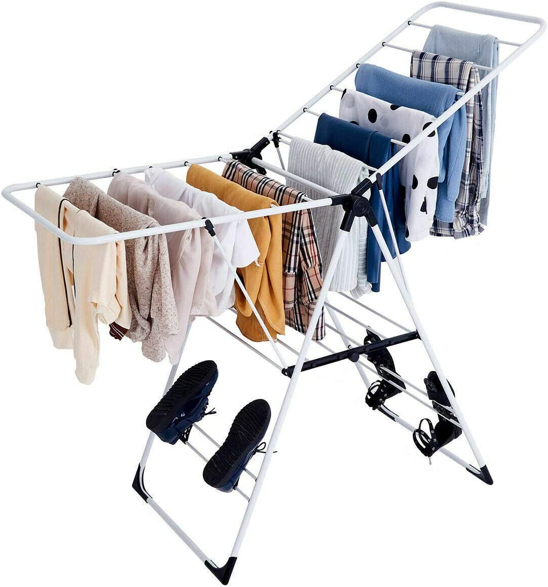 108siam Laundry Clothes Storage Drying Rack Portable Folding Dryer Hanger Heavy Duty New 71oa54vQY-LSL1200_