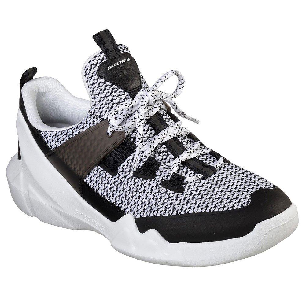Skechers Hombres Blanco/Negro D'Lites - A Zapatillas 45.5 EU