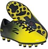 Zephz Wide Traxx Black/Yellow Soccer Cleat Youth