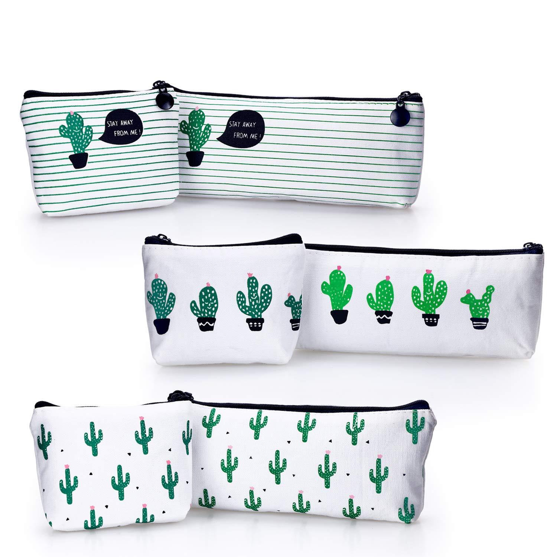 Mini Sac Cactus en Toile Sac /à Bandouli/ère Zipp/é Portefeuilles Porte-Clefs Maquillage Petit Sac YOUSHARES Lot de 4 Sac Porte-Monnaie