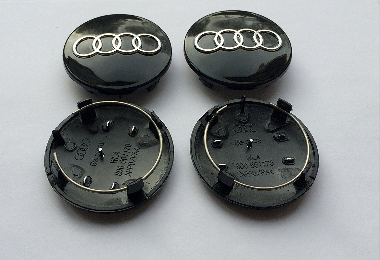 da 68/mm di colore nero Set di 4/tappi per il mozzo 8D0601170