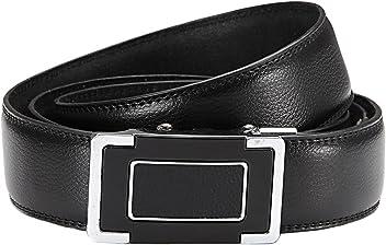 Eg-Fashion Herren Anzug Gürtel mit Automatikschließe Business Gürtel in 3,5 cm Breite- Individuell kürzbar