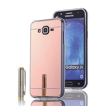 LXHGrowH Fundas Samsung Galaxy J5, [Ultra Delgada] Carcasa con Espejo para Samsung Galaxy J5 SM-J500FN (5.0