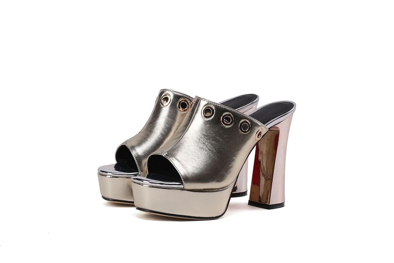 Sandales pour Femmes, pour Talons Hauts, Pantoufles Femmes, Pantoufles Or 373ddb3 - piero.space