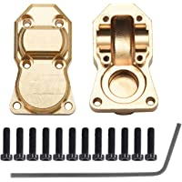 2pcs Brass Diff Cover for AXIAL SCX24 AXI90081, Brass Wheel Weights Hex Adapter | Front&Rear Brass Diff Housing Cover…