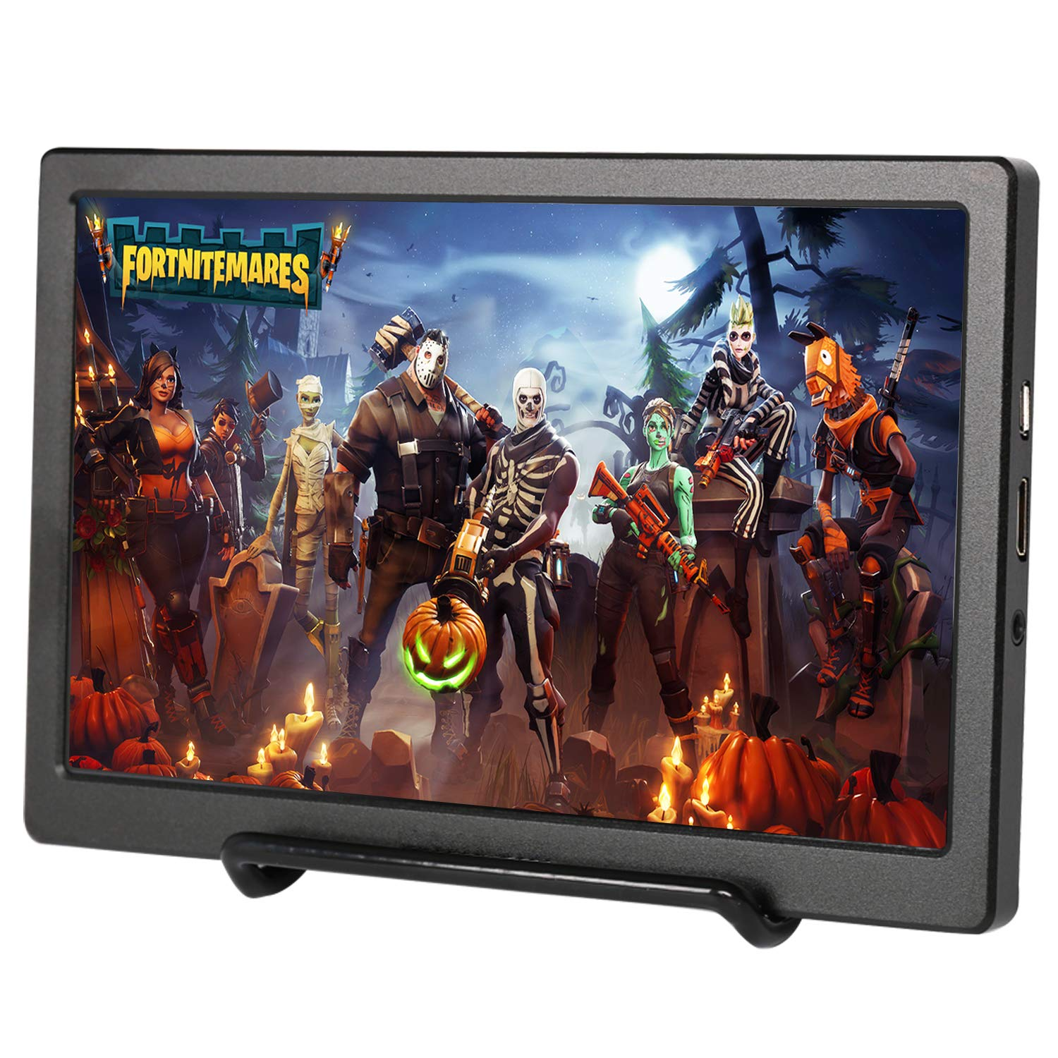 Portable Screen HDMI Monitor 1024×600 IPS Portable Display Monitor Built in Speaker for Raspberry Pi Computer Laptop PS3 PS4 Xbox one Ns xbox360 Black by UPERFECT (Image #1)