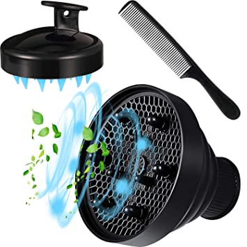 Buy Universal Collapsible Hair Dryer Diffuser Attachment, Blow dryer  diffuser With Shampoo brush and Hair Comb Fit Nozzle Diameter D-1.575Inch  to 1.968 Inch (4-5cm)-Black Online at Low Prices in India - Amazon.in