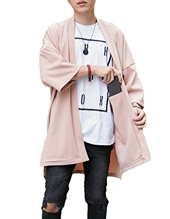 LOST IN BKK Men's Long Oversized Kimono Cardigan Noragi Street ...