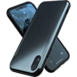 iPhone XR Case | Shockproof | 12ft. Drop Tested | Carbon Fiber Case | Wireless Charging | Lightweight | Scratch…