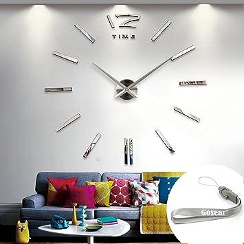 Reloj Pared 3D Grandes Bricolaje Moderna para decoración del hogar Oficina: Amazon.es: Hogar