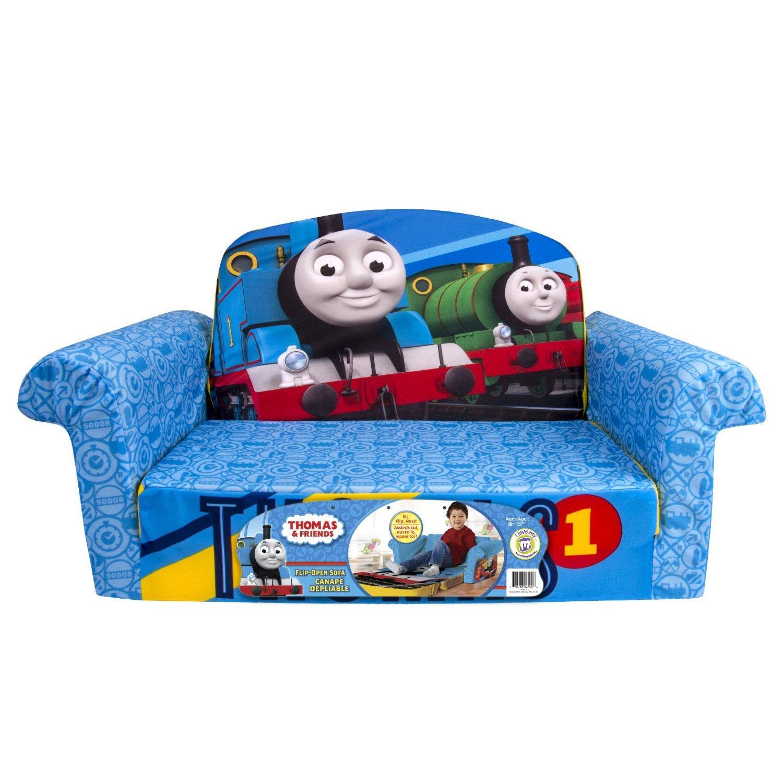 きかんしゃトーマス オープンフラットソファ|ソファーとしてもマットレスとしても使える!(Marshmallow Furniture Flip Thomas Open Sofa) [並行輸入品] B019SSE0SC Parent
