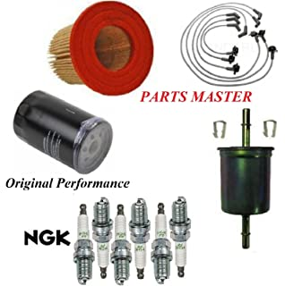 8usauto tune up kit air oil fuel filters wire spark plug fit ford mustang  v6 3 8