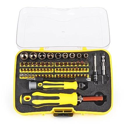 InnoGear 71 en 1 S2 Set de Destornillador de Precisión de Acero Juego de Destornillador Magnético para iPhones iPad Macbook PlayStation Xbox Notebook ...
