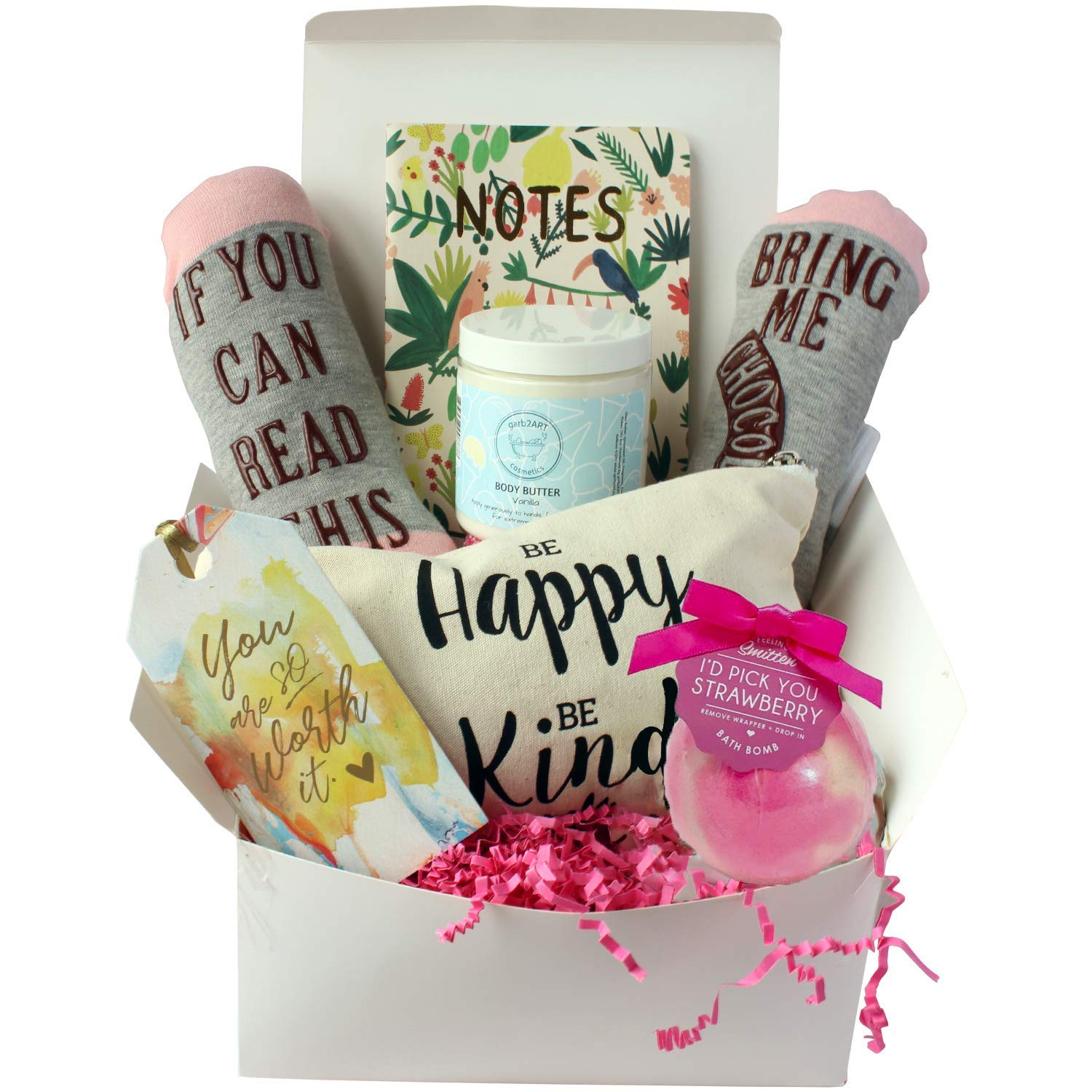 Special Birthday Gift Basket Box for Her- Unique Gift Basket Box for Mother's Day,Wife,Friend,Aunt,Sister- Special Gift For Mother's Day by Milky Chic