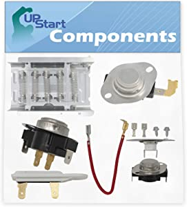 279838, 279816, 3392519, 3977767 & 3387134 Dryer Heating Element & Thermostat Combo Pack Replacement for Whirlpool LER5600HQ0 Dryer - Compatible Heater Element & Thermostat Kit