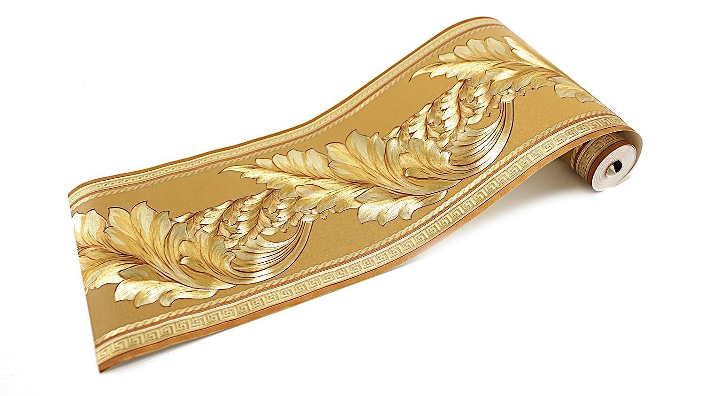 Home Bord/üre Medusa Lorbeer gold Band Tapete Medusa Style 5 Meter Rolle 1