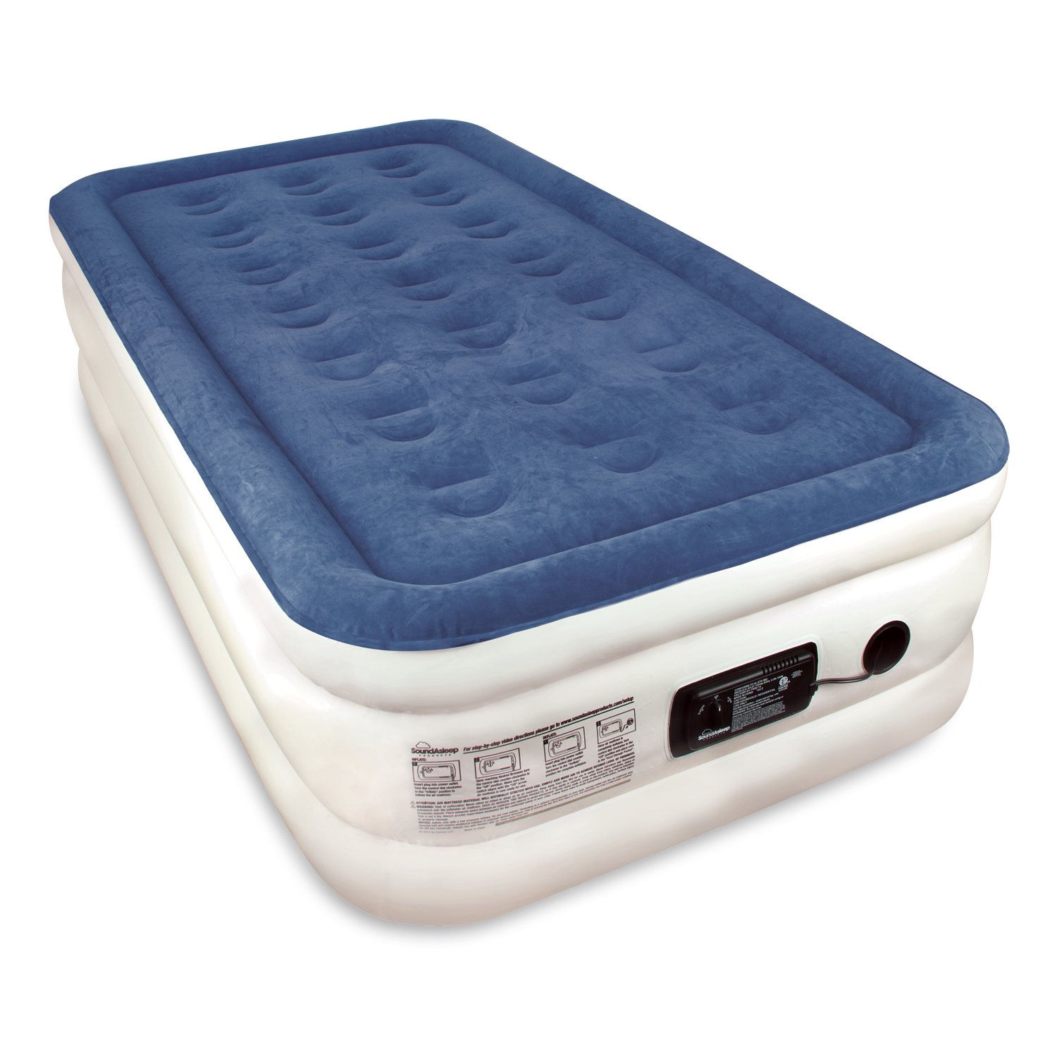 twin sized air mattress Amazon.com: SoundAsleep Raised Twin Size Premium Air Mattress  twin sized air mattress