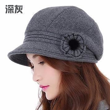 RangYR Sombrero De Mujer Sra. Cap Sombrero Acolchado De Invierno Gorra  Informal De Otoño Invierno 873e36cc6ece