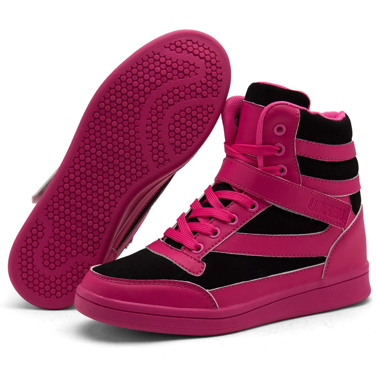 58b0e6a9c2d UBFEN Women's Shoes Hidden Wedge Heel 5.5cm Fashion Sneakers ...