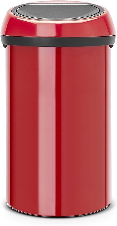 Brabantia 402487 Poubelle Touch Bin 60 L Rouge Passion Amazon