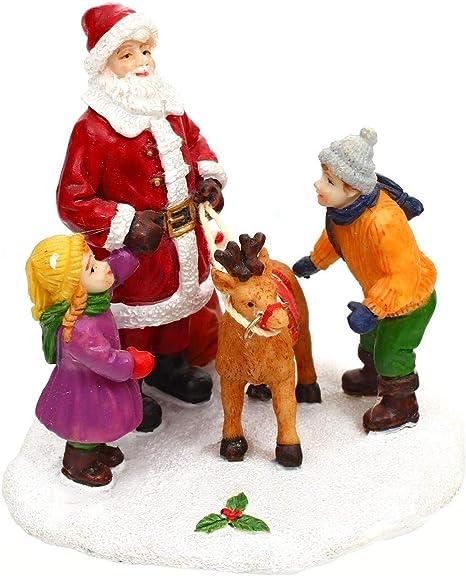 Accessoires pour Village de No/ël Mini sc/ène avec Personnages en Situation FEERIC CHRISTMAS
