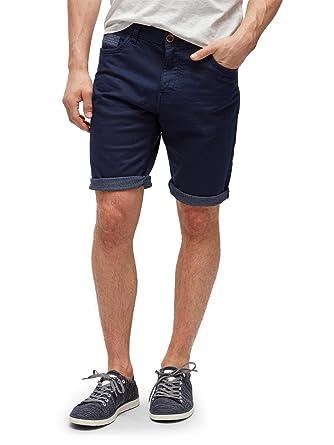 ef6f8f4120fa TOM TAILOR für Männer Hosen   Chino Josh Regular Slim Bermuda Shorts True  Dark Blue,