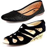 Kanchan Women's Synthetic Kanchan Wedges and Belly Pack