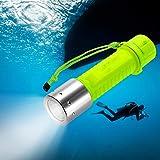 TurnRaise ダイビングライト Cree XM-L2 LEDチップ 1100ルーメン 防水ズーム調整可能 高輝度 3AAA /18650 バッテリー対応 防災 防震適用 スキューバ キャンペンなどアウトアド活動に適用 (イエロー)