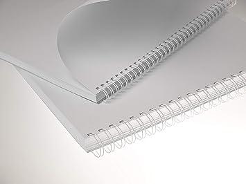 4 100 Drahtbinderücken 11,1 mm // 3//8 inch Nr Weiß 34 Ringe 3:1