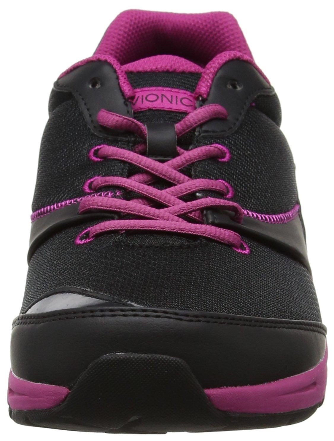 Vionic Kona Women's 6 Orthotic Athletic Shoe B01N3LY4JN 6 Women's B(M) US|Black/Fuchsia e3cdbf