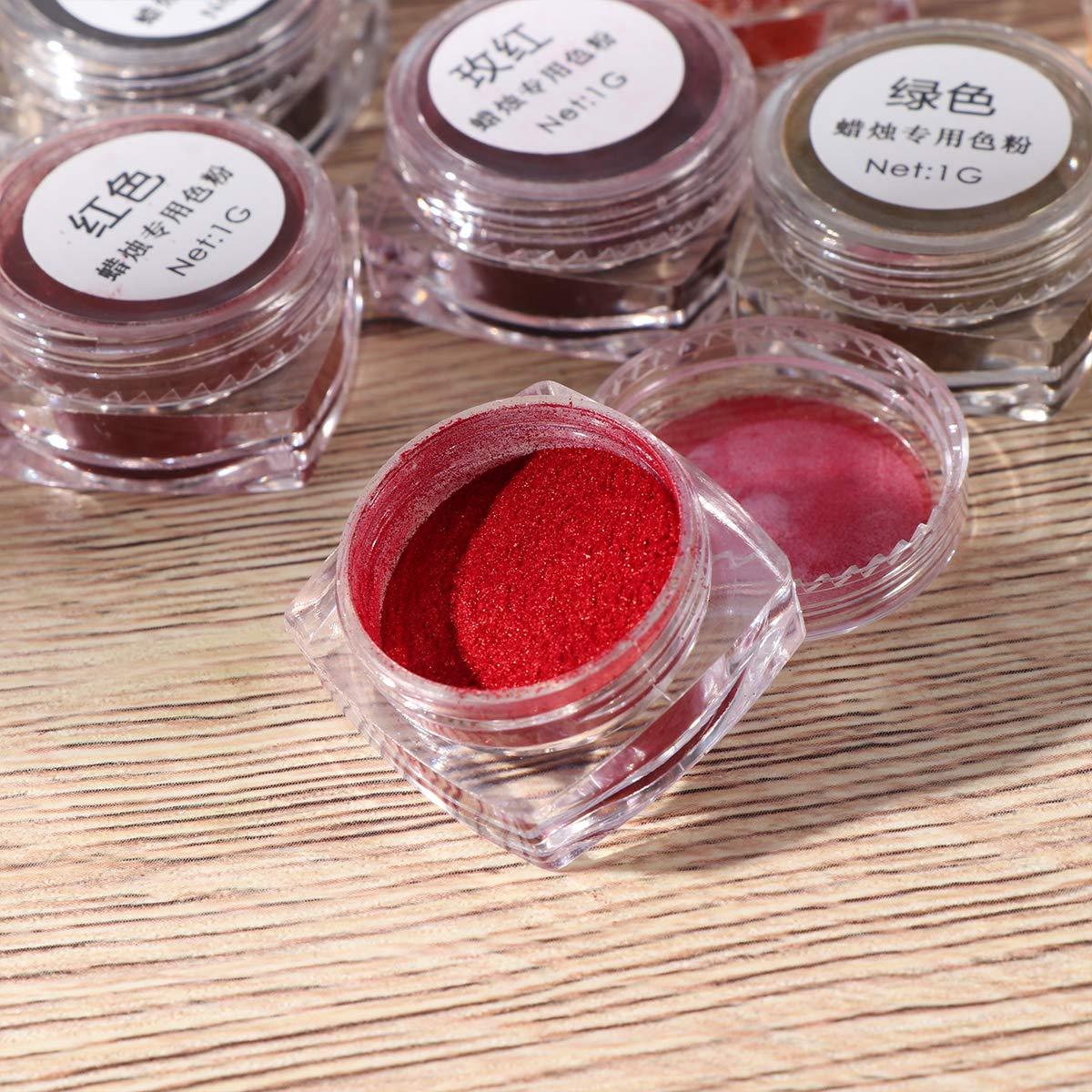 polvos de pigmento de color de vela Fabricaci/ón de velas perfumadas SUPVOX Tinte de vela de soja de 9 colores DIY altamente concentrado para velas de soja /únicas