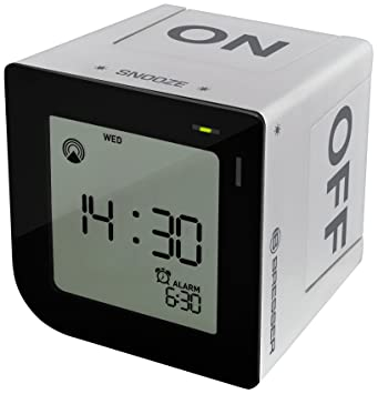 Bresser FlipMe Despertador Radio controlado - Plata: Amazon ...