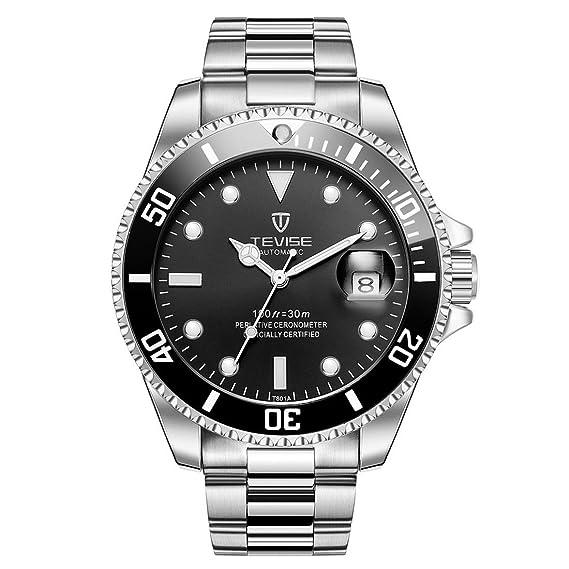Mens Relojes, TEVISE T801 mecánicos Relojes Hombres, Relojes Luminosos de Pulsera para Hombres a