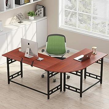 Tribesigns - Escritorio esquinero para ordenador de oficina, ordenador portátil, mesa de estudio,
