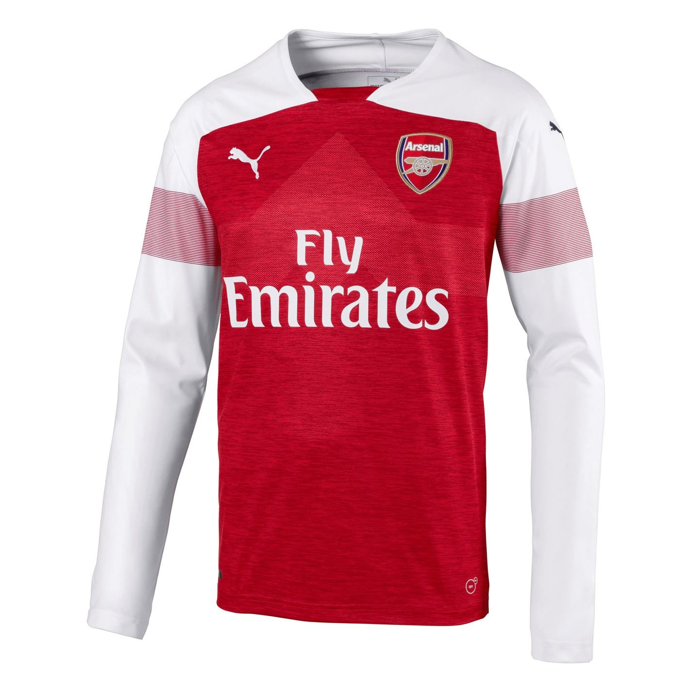 Arsenal Puma Long-Sleeve Home Shirt 2018/19 (Adults)-2X-Large