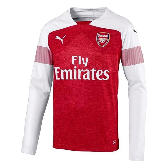e024175ff19 Puma Mens Arsenal Long Sleeve Home Shirt 2018 2019  Amazon.co.uk  Clothing