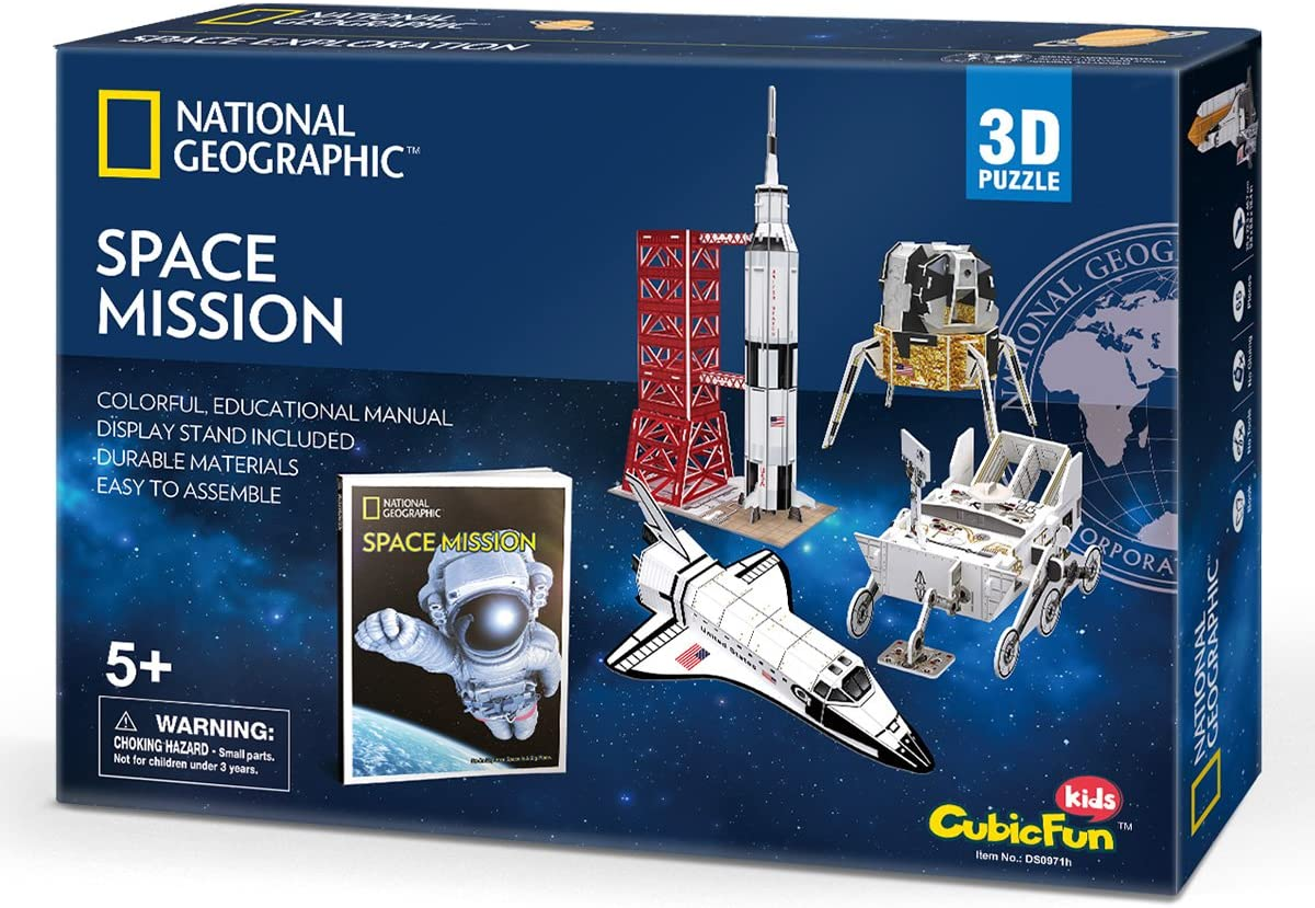 CubicFun 3D Puzzle National Geographic NASA Space Mission Modelo ...