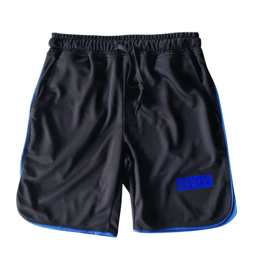 Huaa Men Pants Men's Sports Training Bodybuilding Summer Shorts Workout Fitness Short Pants Blue