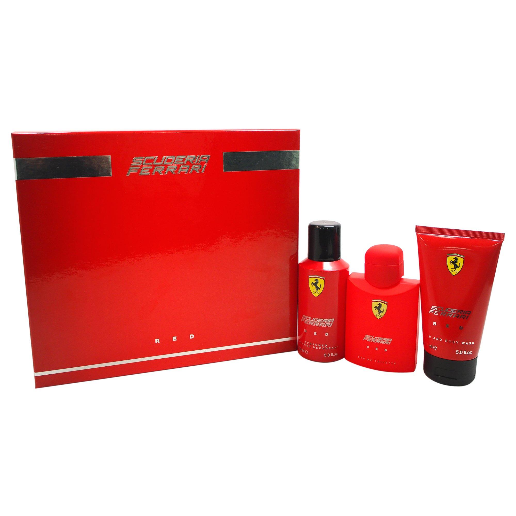 Ferrari Red 3 Piece Gift Set for Men