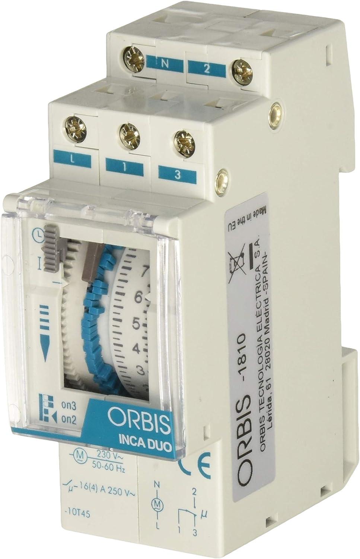 Orbis inca duo d - Interruptor horario modular inca duo d 230v: Amazon.es: Bricolaje y herramientas
