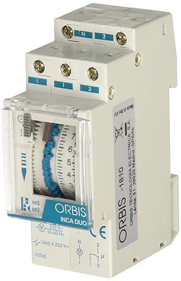 Orbis inca duo d - Interruptor horario modular inca duo d 230v