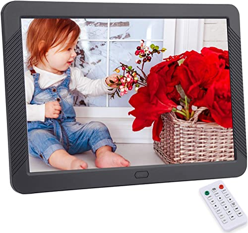 CofunKool Digital Photo Frame 8 inches, HD Digital Picture Frame with 1920×1080 IPS Screen, Support 1080P Video, Music Player, Auto On Off Timer, Calendar, Alarm, with Remote Control