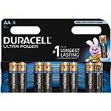 Duracell Ultra Power Typ AA Alkaline Batterien, 8er Pack
