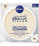 NIVEA 3in1 Anti-Age Pflege Kissen für natürliche Tönung und Feuchtigkeit, Für Helle Hauttypen, 15 ml