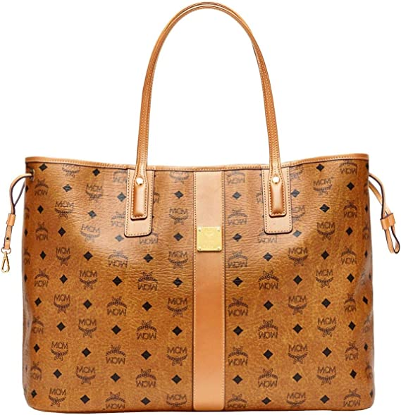 MCM Damen Reversible Shopper Project Large Cognac:
